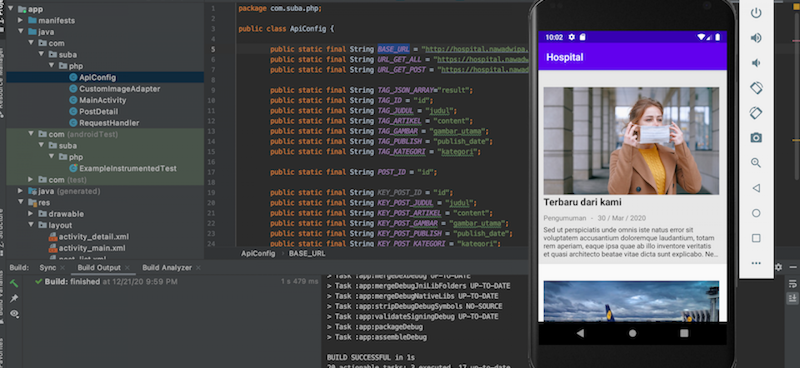 Membuat Aplikasi Berita Android dengan Android Studio, PHP dan Mysqli