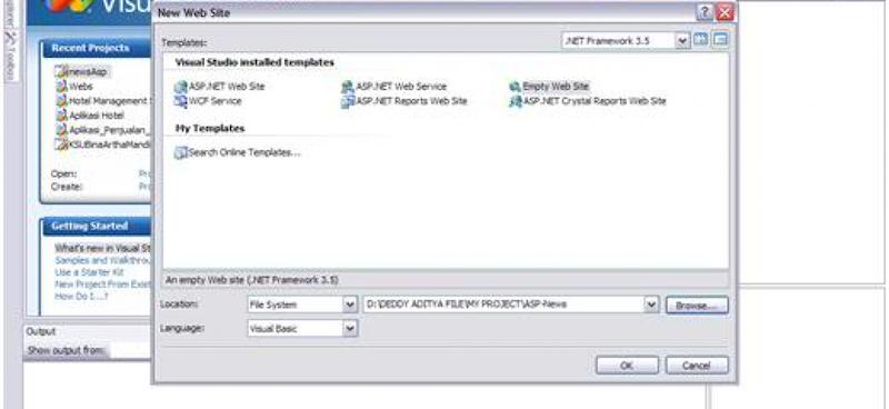 Membuat Website dengan Visual Studio 2008