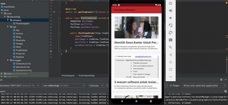Membuat Main Activity dan Loop Blogspot Post dengan Android Studio